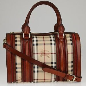 Burberry Haymarket Medium Alchester Bowling Bag